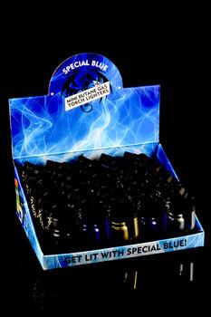 20 Pc Special Blue Mini Metal Torch Lighter Display - L162