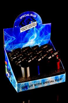 12 Pc Special Blue Bernie Metal Torch Lighter Display - L163