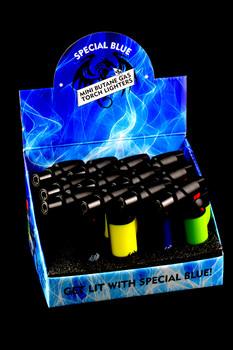 12 Pc Special Blue Bernie Rubber Torch Lighter Display - L165