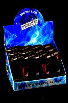 12 Pc Special Blue Bernie Plastic Torch Lighter Display - L167