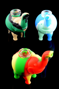 Multicolor Silicone Elephant Pipe - AP221