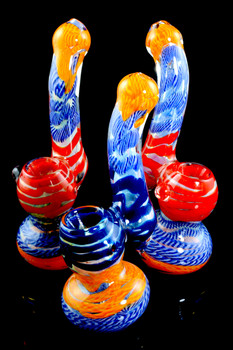 Small Color Changing Sherlock Glass Bubbler - B0984