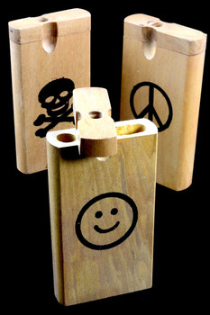 Large Wood Dugout with Decal - W0176