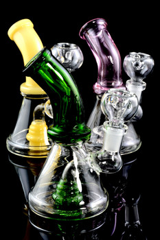 Mini Colored Glass Water Pipe with Stemline Percolator - WP1524