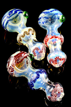Thick Color Changing Striped Glass Pipe - P1649