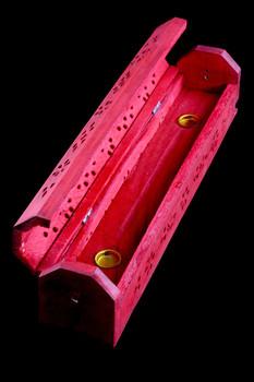 Red Wood Incense Holder - M0271