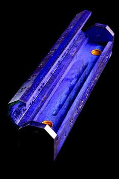 Blue Wood Incense Holder - M0272