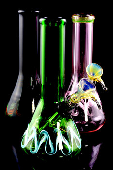 (US Made) Small Colorful Colored Glass Water Pipe - WP1537