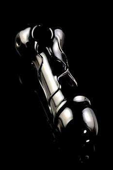 (US Made) Large Black Phallus Spoon Pipe - P1680