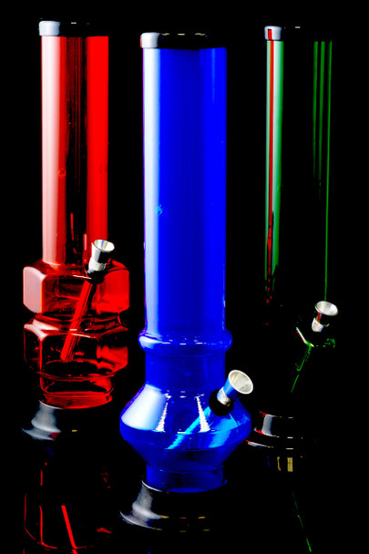 "(US Made) 12"" Large Acrylic Water Pipe - WP155"