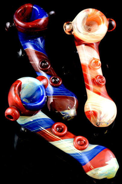Thick Reverse Sherlock Glass Pipe - P1358