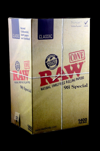 1400ct Bulk Raw 98 Special Pre-Rolled Cones - RP230