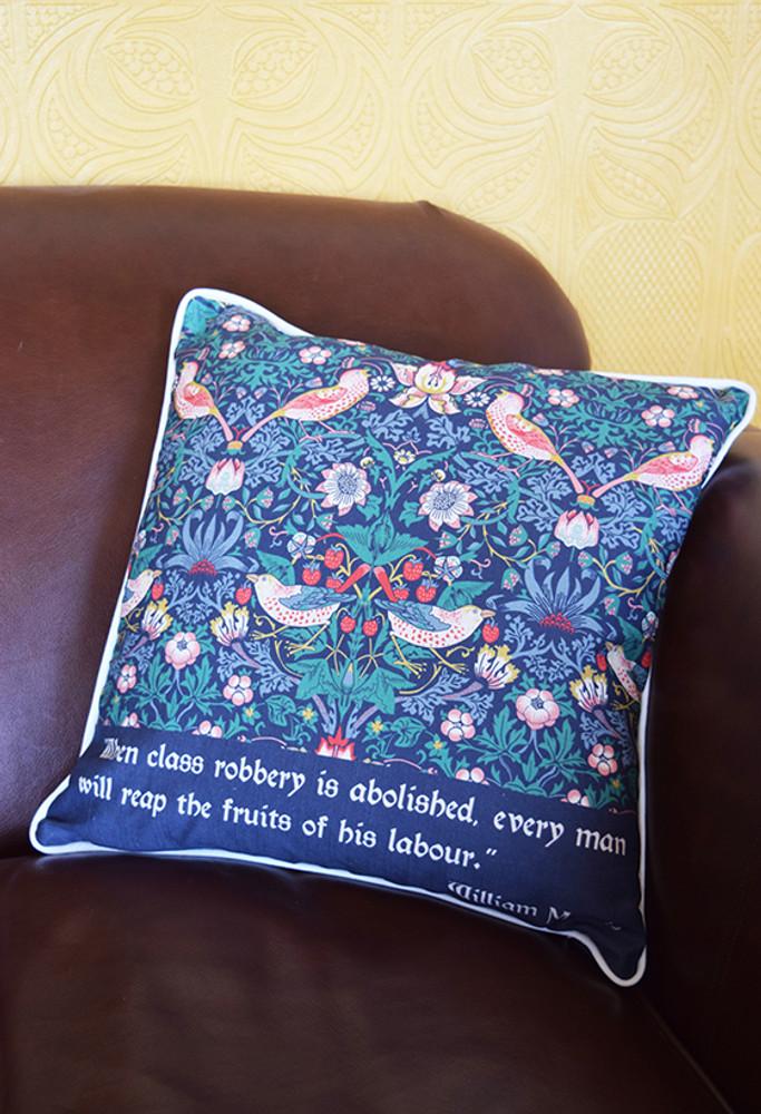 William Morris Strawberry Thief cushion cover