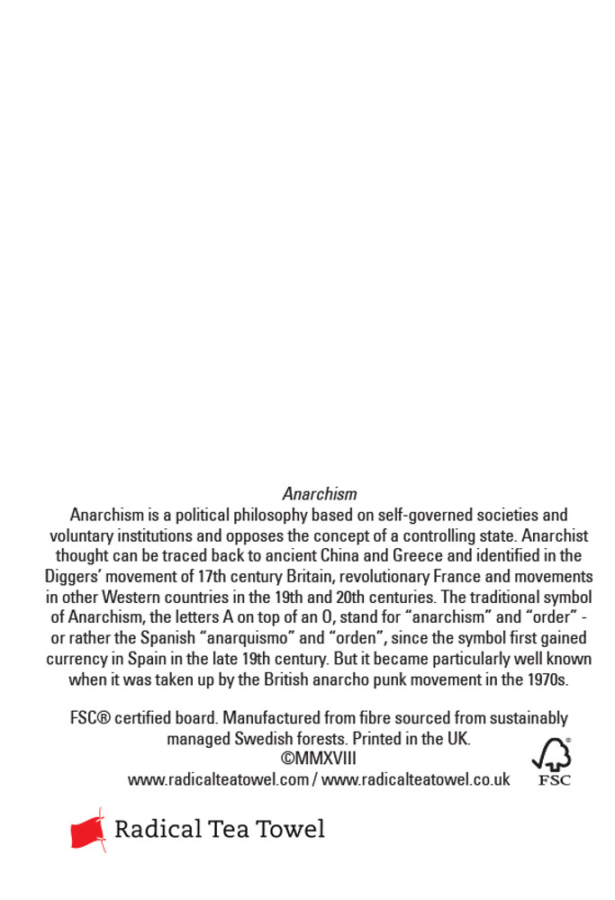 Anarchism Xmas cards pack of 8