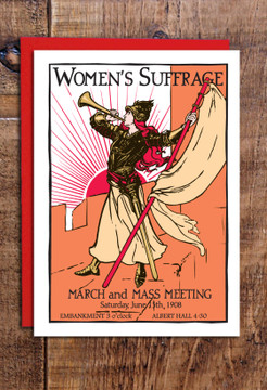 Women's suffrage cards (mixed) pack of 8