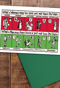 Suffrage Comic Strip cards pack of 8
