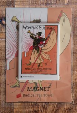 Bugler Girl fridge magnet