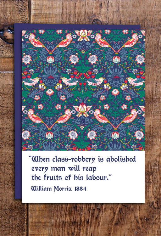 William Morris Strawberry Thief cards pack of 8