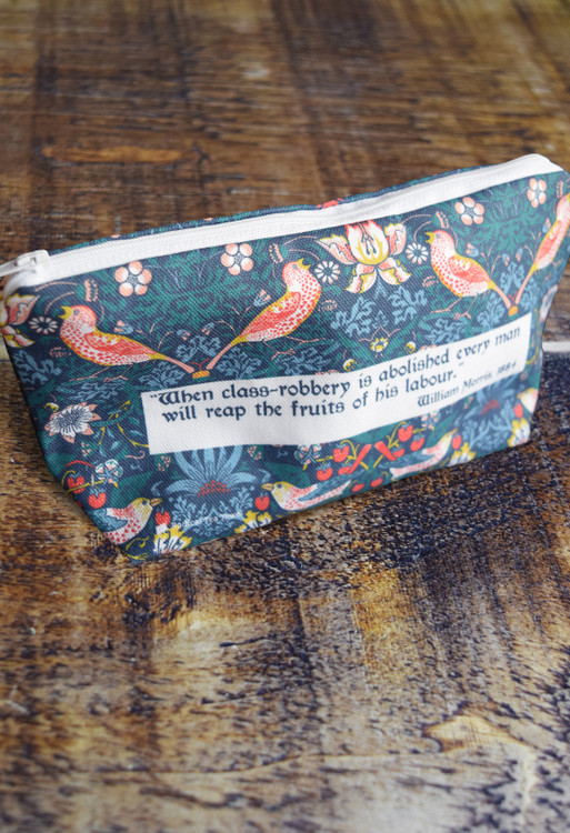 William Morris Strawberry Thief small wash bag