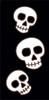 3x6 Tile Black Day of the Dead Three Skulls left End