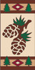 3x6 Tile Lodge Pine Cones Right