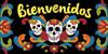 "6""x12"" Tile Sign Day of the Dead Bienvenidos"