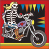 6x6 Tile Day of the Dead Biker Chic 7449A