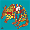 6x6 Tile Stylized Armadillo 7990A