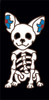 3x6 Tile Black Day of the Dead Chihuahua End