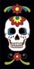 3x6 Tile Black Day of the Dead Sugar Skull End