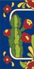 3x6 Tile House Number Cobalt Talavera Cactus Left End 3068AL