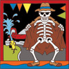 6x6 Tile Day of the Dead Flasher 7877A