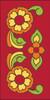 3x6 Tile Talavera Design Red