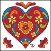 6x6 Tile Talavera Heart White
