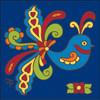 6x6 Tile Talavera Bird Cobalt