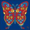 6x6 Tile Talavera Butterfly Cobalt