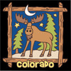6x6 Tile Colorado Starry Night Moose