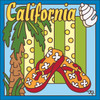 6x6 Tile California Flip Flops 7654A