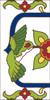 3x6 Tile House Number White Talevera Hummingbird Left End 3061AL