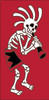 3x6 Tile Red Day of the Dead Kokoskelli Left End