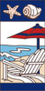 3x6 Tile Nautical Beach Scene Right