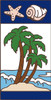 3x6 Tile Nautical Palm Trees Right