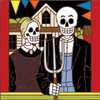 6x6 Tile Day of the Dead American Gothic 7589A