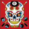 6x6 Tile Day of the Dead 8 Ball Sugar Skull 8021A