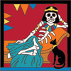 6x6 Tile Day of the Dead Cleopatra