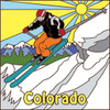 6x6 Tile Colorado Ski