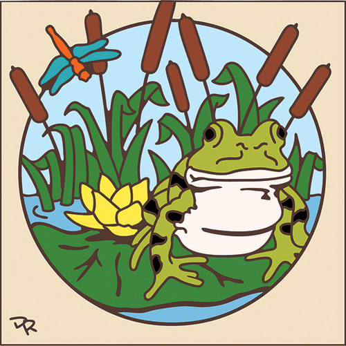 6x6 Tile Frog on Lily Padl 7805A