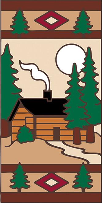 3x6 Tile Lodge Cabin Left