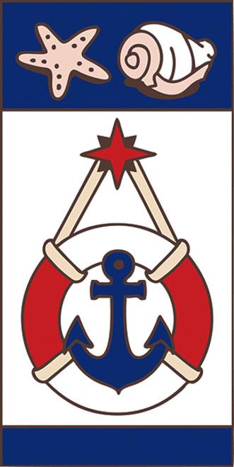 3x6 Tile Nautical Anchor Right