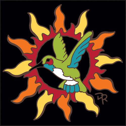 6x6 Tile Southwest Sun with Hummingbird 8344A